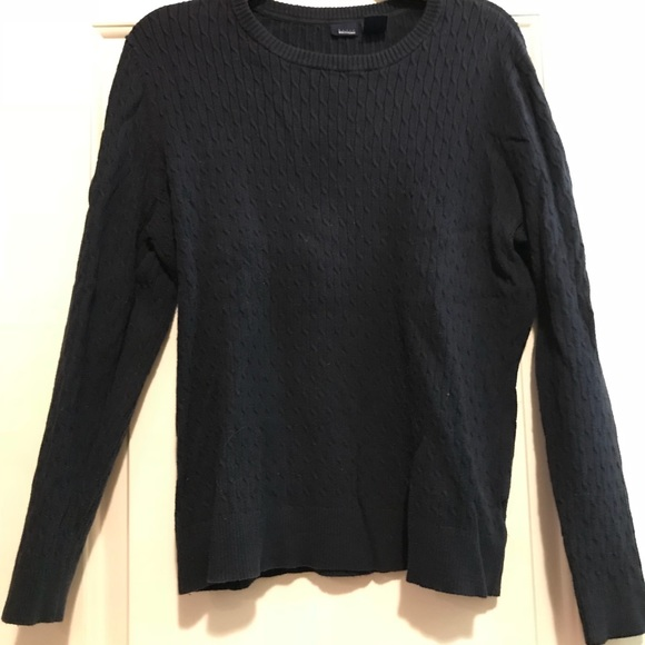 Basic Editions Tops - Navy blue ribbed sweater